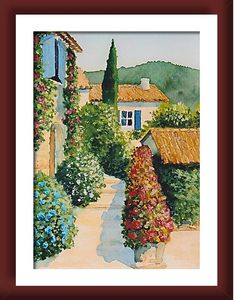 aquarelle provence côte d`azur